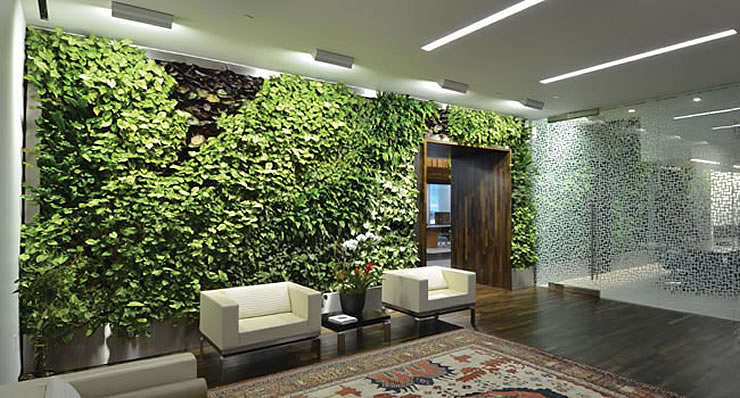 green walls vertical planting system