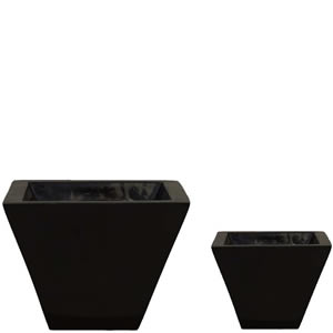 mini gardens wedge pots