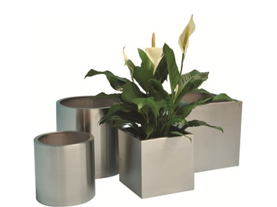 pot plant hire stainless steel range