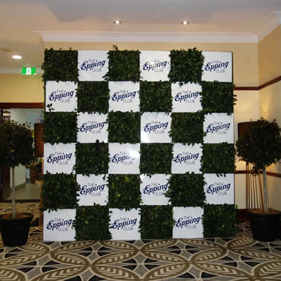 green media wall Epping Club