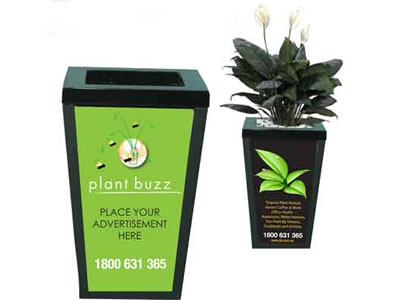 plant pot advertising
