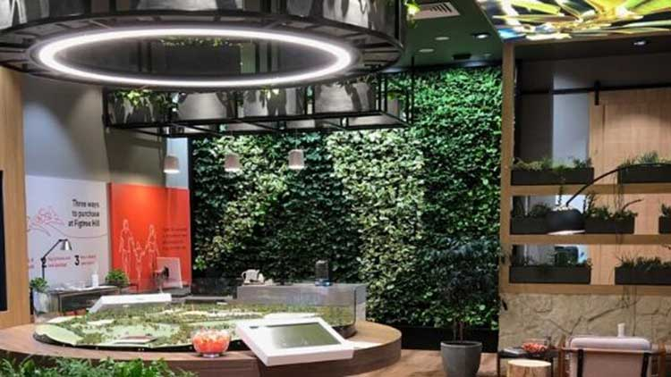 figtree hill hire green wall