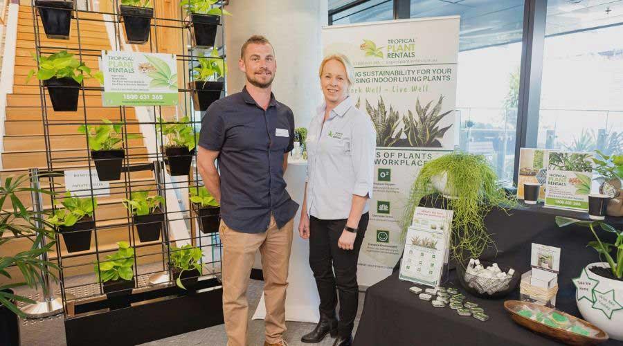 Tropical Plant Rentals BEE 2019 Exhibit Kylie & Mitch