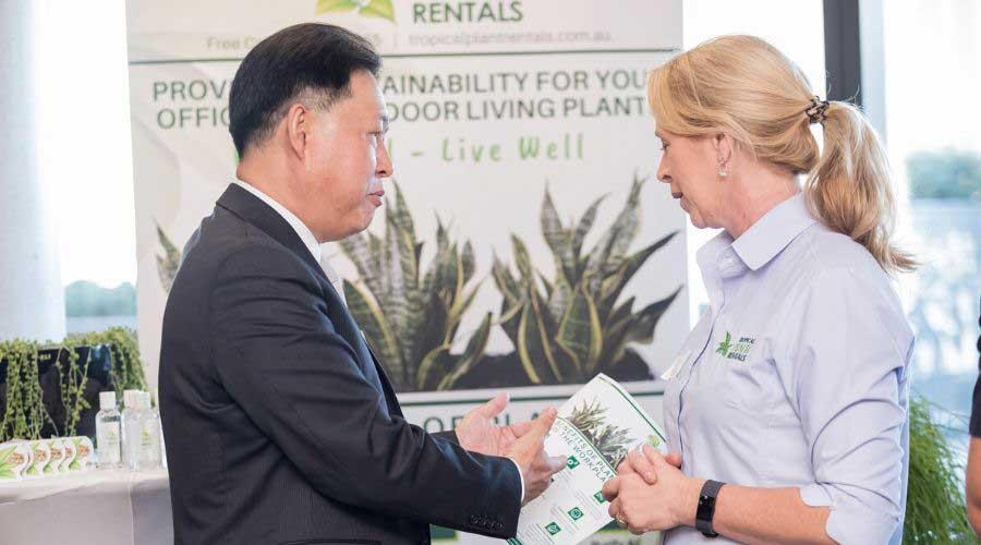 Tropical Plant Rentals Exhibit Stand