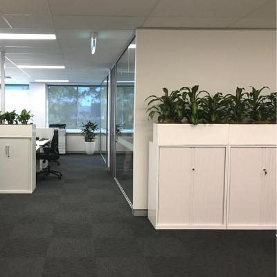happy plants white troughs tambour unit 400mm x 400mm