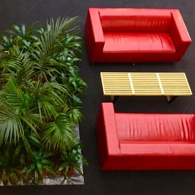 tropical plant display lobby